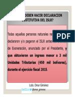 Como Hacer Declaración Sustitutiva de ISLR Considerando Decreto de Exoneración