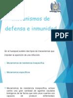 Mecanismos de Defensa e Inmunidad