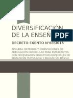 Diversificación de La Enseñanza