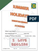 Summer Holidays Reinforcement Activities (3rd) - La Milagrosa School