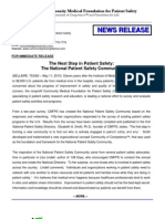 News Release_National Patient Safety Directory and Dictionary of Patient Safety