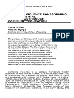 DOMESTIC VIOLENCE RANSFORMING ENVIRONMENTAL CONDITIONSTHROUGH COMMUNITYEDUCATION