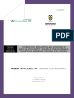 Fortalecimiento de Las Politicas Agroambientales en Paises de Alyc Caso Colombia