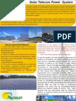 Solar Power Telecom