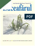 Revista Luceafarul Nr. 1(3), ANUL I (III), Martie 2016