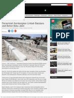 Pemerintah Kembangkan Limbah Batubara Jadi Bahan Baku Jalan