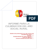 Informe Culminación Año Rural Aprobación SNPSS