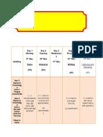 My Own Weekly Scheme of Work (Rph Sem 7)