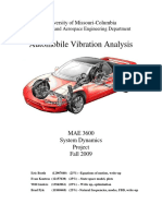Automobile Vibration Analysis
