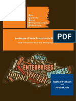 Social Entrepreneurship in Asia Working Paper Landscape of Social Enterprises in Singapore