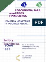 8. Politica Monetaria y Política Fiscal