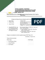 Formulir Pendaftaran PMW 2016