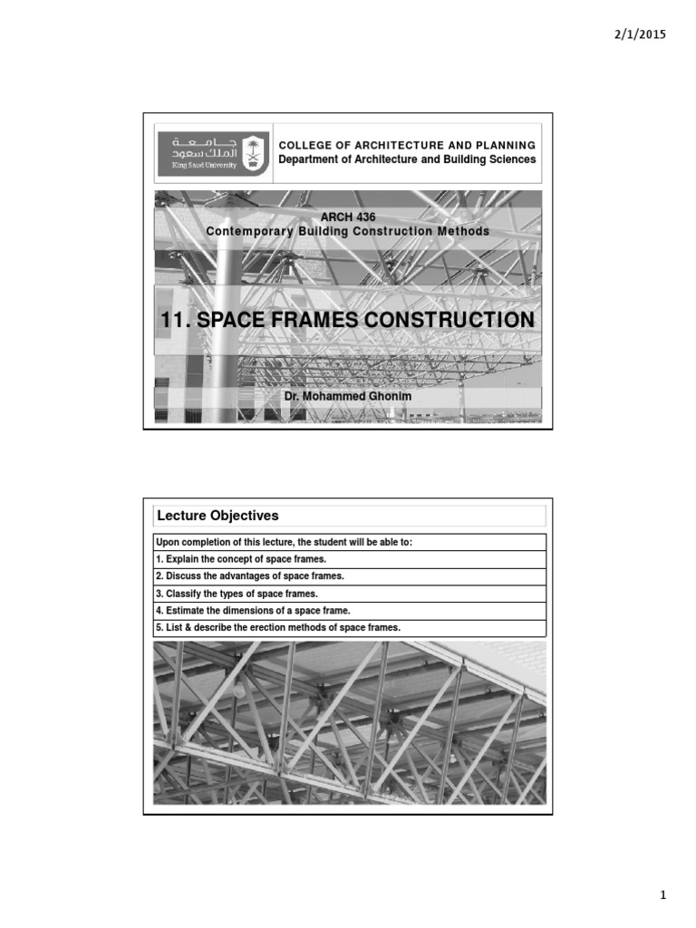 11- Space Frames Construction | Framing (Construction ...