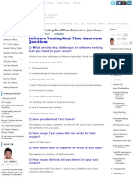 Software Testing Real Time Interview Questions _ Software Testing