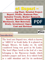 Sweet Supari - Manufacturing Plant, Detailed Project Report, Profile, Business plan, Industry Trends, Market research, survey, Manufacturing Process, Machinery, Raw Materials, Feasibility study, Investment opportunities, Cost and Revenue