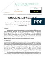 Sap_comparison of Lateral Analysis of Reinforced Concrete and Steel Silo