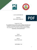 2014 La exclusión de la Ley de Prevención de Riesgos Laborales para la Policía Local, Policía Nacional, Guardia Civil y Bomberos