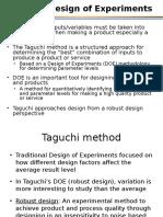 2 Design of Experiments via Taguchi Methods21