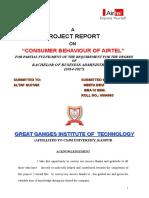 22463913 Consumer Behaviour of Airtel Geeta