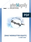 Daily Equity Market HighLights of 11th May 2016