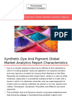 Synthetic Dye and Pigment Global Market Analytics Report Released By The Business Research Company