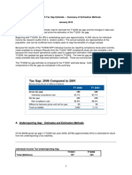 Summary of Methods Tax Gap 2006