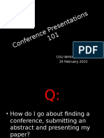 Giving Conference Papers