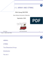 Chapter 5. Arrays and Strings
