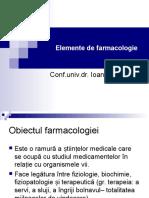 FARMACOLOGIE GENERALA
