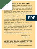 Declaração de Dom Helder Sobre a Rede Globo