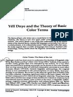 (2001) Levinson - Basic Colour Terms