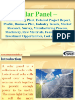 Solar Panel - Manufacturing Plant, Detailed Project Report, Profile, Business plan, Industry Trends, Market research, survey, Manufacturing Process, Machinery, Raw Materials, Feasibility study, Investment opportunities, Cost and Revenue