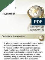 Liberalization & privatization ppt