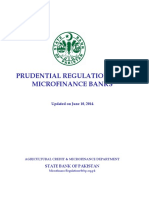 Prudential Regulations for Microfinance Banks