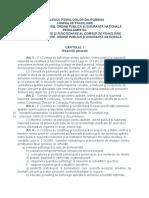 Regulament Comisia de Aparare