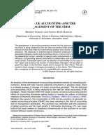 Barlev, B. & Haddad, J.R. (2003). Fair Value Accounting and Management
