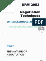 Negotiation technique chapter 1