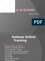 Hadoop Online Training Institute