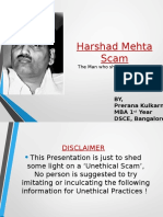 Ppt on Harshad Mehta Case