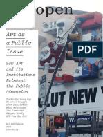 Open 14 Art as a Public Issue