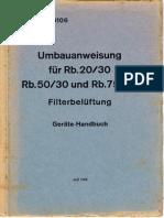 (1942) D.(Luft) T.5106 - Umbauanweisung für Rb.2030, Rb.5030 und Rb.7530 Filterbelüftung