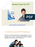 Cisco Certification Exams 642-999 Braindumps