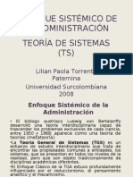 ENFOQUE SISTÉMICO DE LA ADMINISTRACIÓN