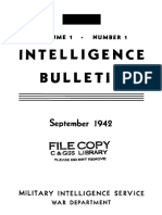 (1942) Intelligence Bulletin, Vol. I, No. 1