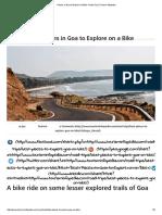 Places in Goa to Explore on Bike- Road Trip _ Tourism Infopedia