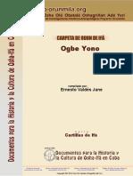 Carpeta Del Odu de Ifa Ogbe Yono