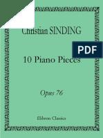 Sinding - Op. 76 Ten Pieces