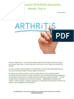Are You Aware, Of Arthritis Awareness Month, That Is
