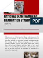 National Examination as Graduation Student