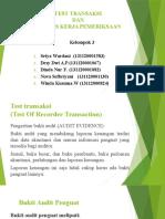 Test Transaksi Dan Kertas Kerja Pemeriksaan